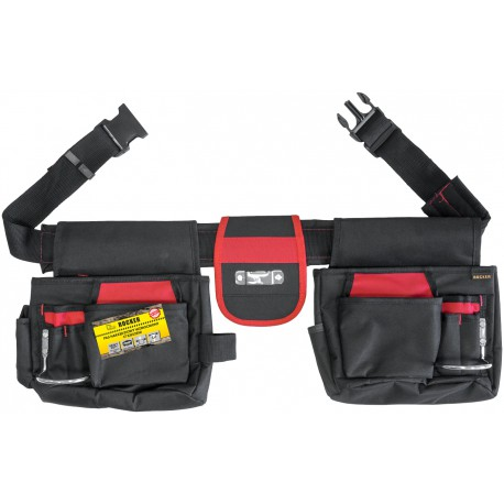 Pas narzędziowy wzmocniony 17 kieszeni