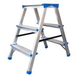 Drabina – stołek aluminiowy, rozkładany