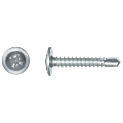 Blachowkręt samowiercący z łbem podkładkowym DIN 7504T