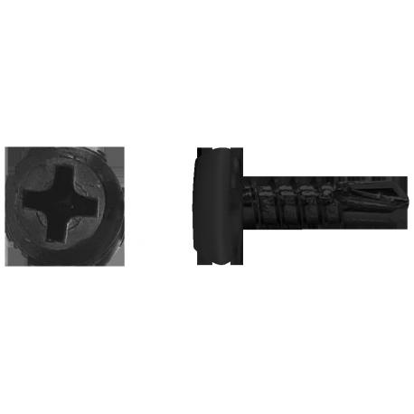 Blachowkręt samowiercący z łbem walcowym płaskim fosfatowany